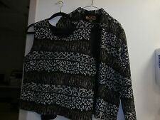 MIRASOL Crinkle Top and Blouse Shirt 2 pc set sz large