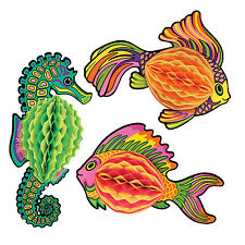 Under the Sea TISSUE FISH (CHOOSE STYLE) Party Decoration LUAU Ocean TROPICAL