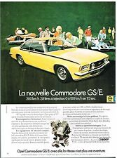 Publicité Advertising 1973 Opel Commodore GS/E