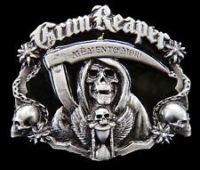 GRIM REAPER DEATH SKULL GHOST COOL GOTHIC BELT BUCKLE BELTS BOUCLE CEINTURE