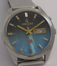 NOS Ricoh vintage automatic watch new old stock, MINT 80's stock Dual tone Dial