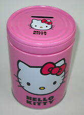 Hello Kitty Traveling with Buildings Pink Round Bank Tin - Tin Box Co.