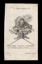 santino incisione 1700  S.GREGORIO MAGNO klauber