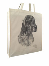 English Setter (b) Cotton Shopping Bag with Gusset and Long Handles Perfect Gift