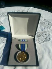 Cased US Army Achievemen Medal AAM Medal Officers Military Collectible Blue case
