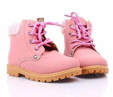 2 Color Fashion Padded Shaft Ankle High Lace Up Womens Combat Boots Casual Shoes
