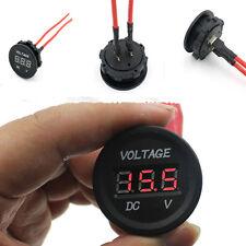 12V-24V Auto Moto LED DC affichage numérique voltmètre Meter Waterproof