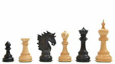 """The New Sher-E-Punjab  Chess Pieces in Ebony Wood / Box Wood - 4.6"""" VJ072"""
