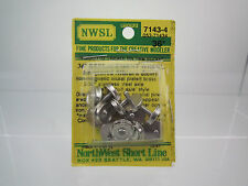 """NWSL HO SCALE 7143-4 36"""" NICKEL PLATED BRASS 3/32"""" STAINLESS STEEL HALF-AXLE"""