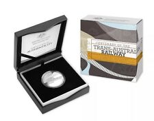 2017 $1 CENTENARY OF THE TRANS AUSTRALIAN RAILWAY SILVER PROOF COIN C MINT MARK