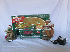 1997 Mr Christmas Animated Musical Dueling Banjo Bears 20 Christmas Carols Songs