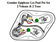 NEW Genuine Epiphone Pre-Wired Les Paul 500K Pot Set (2) Volume (2) Tone w/caps