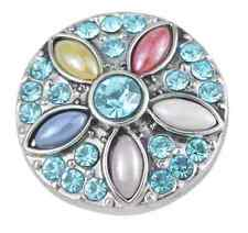3D Rhinestone Drill Snaps Chunk Charm Button Fit  Leather Bracelets Clothing B2