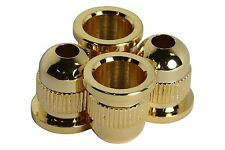 Bass Guitar Rear Mounted String Ferrules - Gold - Set of 4