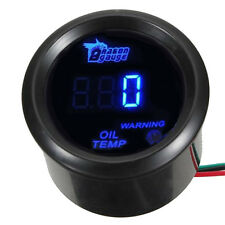 "2"" 52mm Black Car Motor Digital Blue LED Oil Temp Temperature LED Gauge Meter"