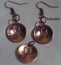 1977 40th BIRTHDAY PENNY EARRINGS & PENDANT/CHARM SET! ANNIVERSARY PARTY FAVORS!