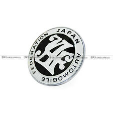 New Universal JDM JAF Japan Automotive Federation Emblem Front Grill Badge Black