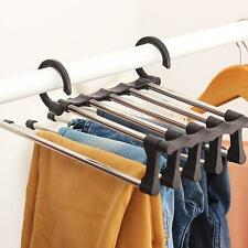 5 in 1 Magic Foldable Shirt Trousers Pants Scarf Hanger Clothes Rack Organizer