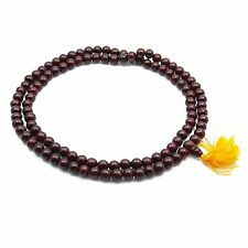 Rosary Wood Indian Brown Japa Mala Rose Wood Prayer Beads 7 Mm 109 Beads Jm91A