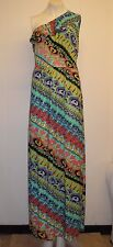 Gorgeous Multi Coloured One Shoulder Maxi Dress from Fit 2 Go - Size L - BNWOT!
