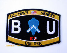 BUILDER BU SEABEE RATING HAT PATCH US NAVY USS PIN UP USN SEABEES ENLISTED CHIEF