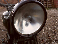LUCAS HEADLAMP LIGHT GLASS SUIT AJS BSA NORTON TRIUMPH MG MORRIS AUSTIN ARIEL