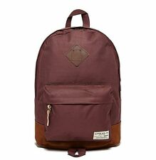 Duffer of St George Burgundy Backpack School Bag,Travel Rucksack With Leather