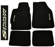Fit 88-91 Honda Civic / CRX EC ED EF Black Floor Mats Carpet Stitched Spoon