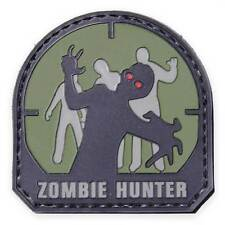 NEW 3D PVC Zombie Hunter Army Military Tactical Velcro Morale Patch Woodland
