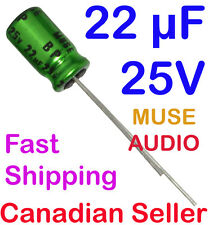 5pcs 22uF 25V 6.3x11mm Nichicon MUSE UES Bi-Polar For Audio HiFi Amplifier Radio