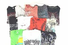 Mixed Brand w/ Raw State Lot of 12 Men's Cotton Graphic T-Shirts Small S B5535