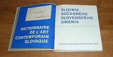 LIVRE D'ART DICTIONNAIRE DE L'ART CONTEMPORAIN SLOVAQUE 1967