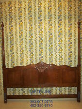 "Baker King Headboard Oak Carved French Collection 86"" H"