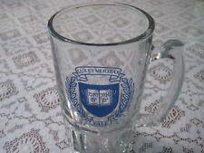 Vintage Yale Lux ET Veritas Glass Beer Stein (Heavy)