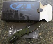 KAI Zero Tolerance ZT 0770ODBLK Assisted Flipper Folding Knife DLC S35VN & BONUS