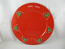 """Christmas Tree Charger Plate 12 3/4"""" 25th Anniversary Waechtersbach Germany NEW"""