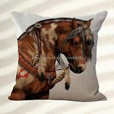 Dining room chair cushion covers equine horse equestrian cushion cover