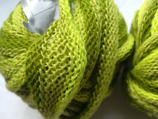 2 x 50g Decorative Frilly Tape Yarn, Lime/Green. Knit/Crochet/Weave/Textilecraft