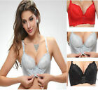 Super Boost Magic Front Enhance Hooks Push Up Bra Gel Padded Side Support Plunge