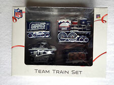 RARE NY NEW YORK GIANTS TEAM HOLIDAY TRAIN SET CHRISTMAS TREE HOLIDAY GIFT