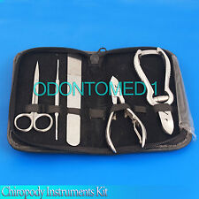 Chiropody Instruments Kit, Podiatry Toe Nail Clipper Nipper File Scissors