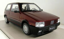 Top Marques 1/18 Scale Fiat Uno Turbo Amarant red metallic Resin Model Car
