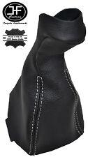 MANUALE Bianco Stitch Ghetta in Pelle Pomello Del Cambio Copertura Per Mercedes CLK w208 96-03