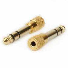 2 x 6.35mm 1/4 Inch Jack Plug to 3.5mm Male Stereo Headphone Jack Socket Adapter