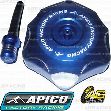 Apico Blue Alloy Fuel Cap Vent Pipe For Kawasaki KXF 250 2009 Motocross Enduro