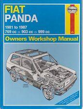 FIAT PANDA MK1 769 903 & 999 cc FIRE BENZINA 1981 - 1987 Proprietari Manuale di Officina