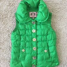 Juicy Couture Luxury Green Quilted Vest