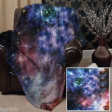 GALAXY 2 DESIGN SOFT FLEECE BLANKET COVER THROW BLANKET BED L&S PRINTS