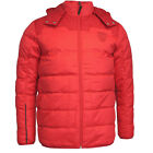 Puma Ferrari Down Filled Full Zip Mens Hooded Red Jacket (564224 03 R23)