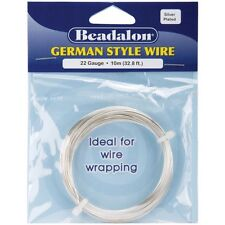 Silver 22 Gauge Round Wire - Beadalon German Style Quality Anti-tarnish Coated